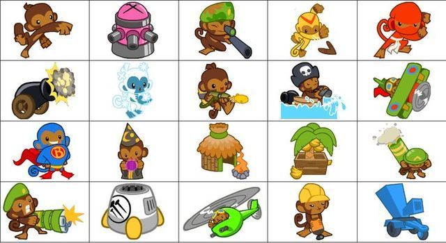 main towers in bloons tower defense